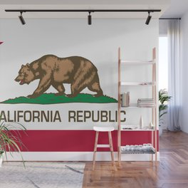 California flag, High Quality Authentic Wall Mural
