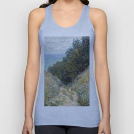 1882-Claude Monet-Road at La Cavée, Pourville-60 x 81 Unisex Tank Top