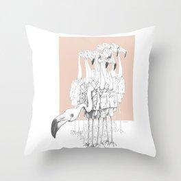 Weird & Wonderful: Flamingo Boys Throw Pillow
