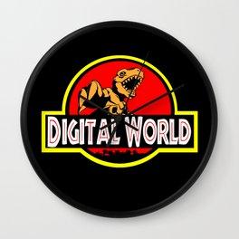 Digital World Logo MashUp Wall Clock