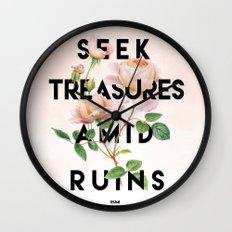 Seek Treasure  Wall Clock