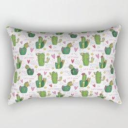 Let it Snow Cactus Rectangular Pillow