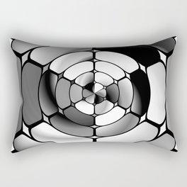 Chromed black and white Rectangular Pillow