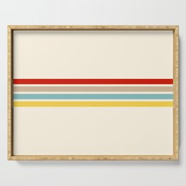 Brazilian Retro Stripes Serving Tray