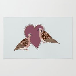 Two Turtle Doves Rug