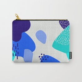 Blue abstract pattern Carry-All Pouch