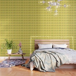 BROAD CITY ART MODEL WEED Censorship (yellow pattern) Wallpaper