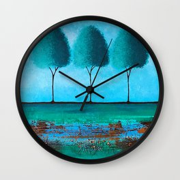 Teal Me A Story Wall Clock