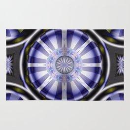 Pinwheel Hubcap in Purple Rug