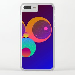 Monkey Planets (1/2) Clear iPhone Case