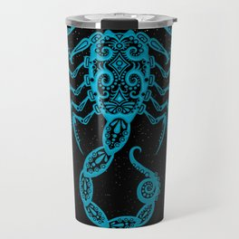 Blue Scorpio Zodiac Sign in the Stars Travel Mug