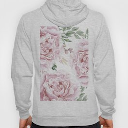 Pretty Pink Roses Floral Garden Hoody