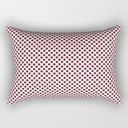 Biking Red Polka Dots Rectangular Pillow