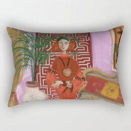 """MARUSHKA, HOME ON TUESDAY EVENING"" Rectangular Pillow"