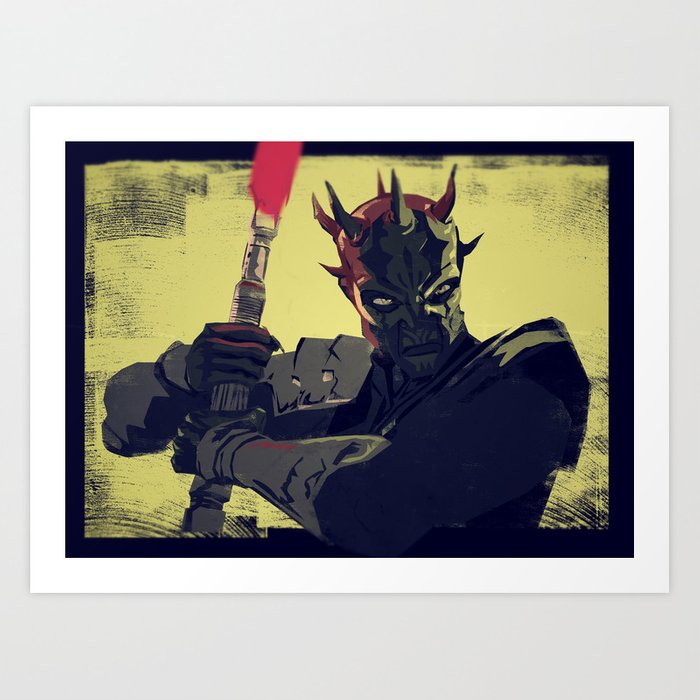 Savage Opress Art Print
