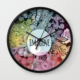 Imagine In Color Wall Clock