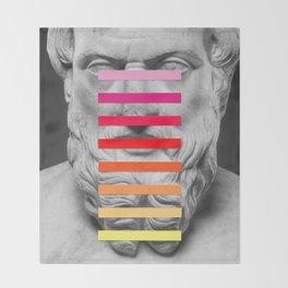 Sculpture With A Spectrum 2 Throw Blanket