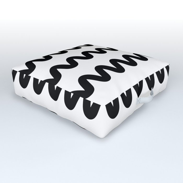 Squiggle pattern Outdoor Floor Cushion