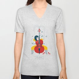 Cellist Unisex V-Neck