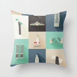 Chicago Landmarks Throw Pillow