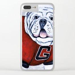 Georgia Bulldog Uga X College Mascot Clear iPhone Case