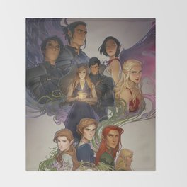 Wings and Ruin Throw Blanket
