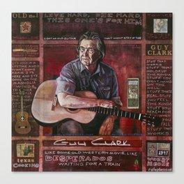 Guy Clark Canvas Print