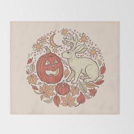 Halloween Friends | Autumn Palette Throw Blanket