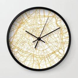 PARIS FRANCE CITY STREET MAP ART Wall Clock