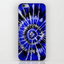Dark Blue Tie Dye iPhone Skin