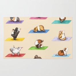 The Yoguineas - Yoga Guinea Pigs - Namast-hay! Rug