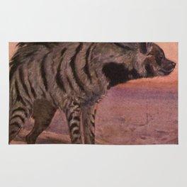 Vintage Hyena Painting (1909) Rug