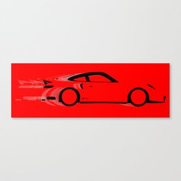 Fast Red Car Canvas Print
