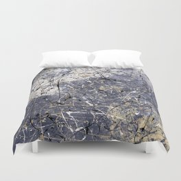 Orion - abstract painting by Rasko Duvet Cover