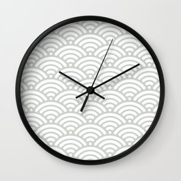Gray Grey Mermaid Scales Sea Salt Wall Clock