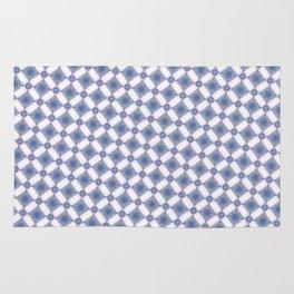 Hynotic blue squares Rug
