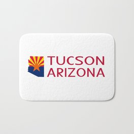 Arizona: Tucson (State Shape & Flag) Bath Mat