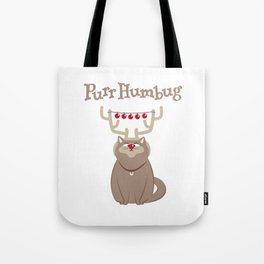 Purr Humbug. Not-So-Festive Cat. Tote Bag