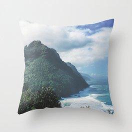 Na Pali Coast Kauai Hawaii Throw Pillow