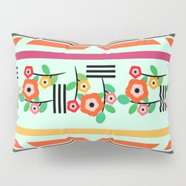 Geometric floral Pillow Sham