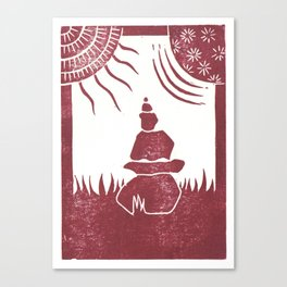 Relaxation (White) Canvas Print