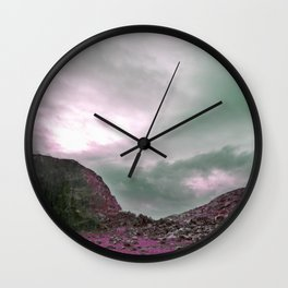 Pink Norway - Norwegian Lapponian Gate Wall Clock