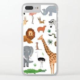 Safari Animals Clear iPhone Case
