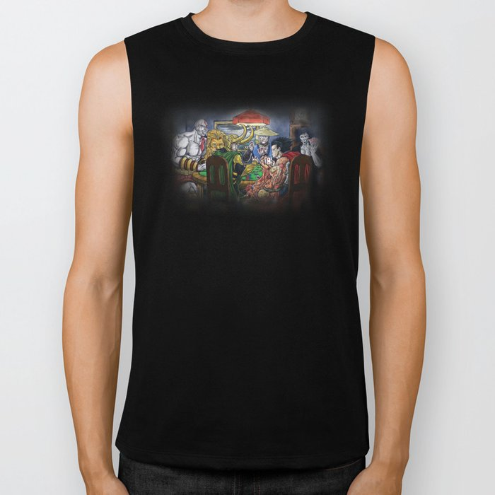 Gods Playing Poker Biker Tank