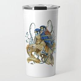 Kestrel and skulls Travel Mug