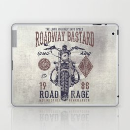 Vintage Motorcycle Poster Style Laptop & iPad Skin