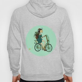 Girl with bicycle Pegas Hoody