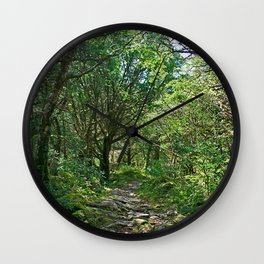 Killarney National Park, Ireland Hiking Path Wall Clock