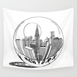 New York Print. Home Decor Graphicdesign Wall Tapestry