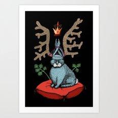 King of Fools 2 (Blue Rabbit) Art Print